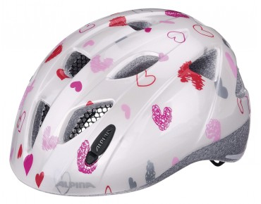 ALPINA XIMO Kinderhelm white hearts