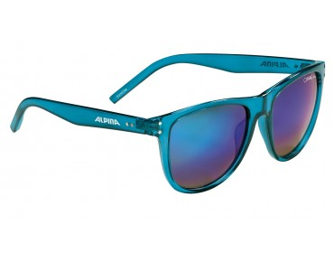 ALPINA RANOM glasses blue transparent/green mirror