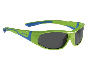 ALPINA FLEXXY JUNIOR kids' glasses neon green -blue/black