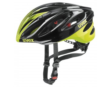 uvex boss race helmet black/neon yellow