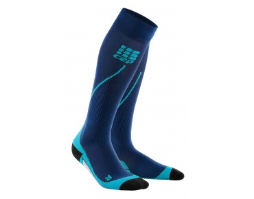 cep RUN 2.0 women's compression socks deep ocean/hawaii blue