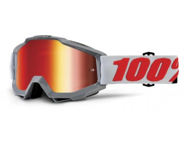 100% ACCURI MIRROR goggles SOLBERG/mirror red
