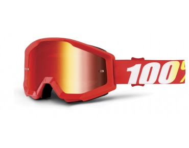 100% STRATA MIRROR Goggle FURNACE/mirror red