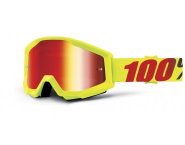 100% STRATA MIRROR Goggle MERCURY/mirror red