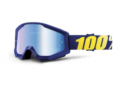 100% STRATA MIRROR Goggle HOPE/mirror blue