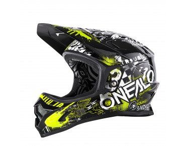O´NEAL BACKFLIP RL II full visor - casco ATTACK black/hi-viz