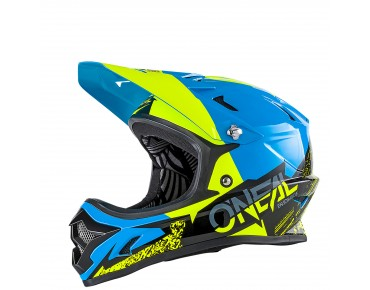 O´NEAL BACKFLIP RL II full visor - casco BURNOUT black/blue/hi-viz