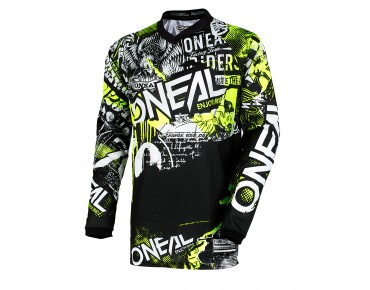 O´NEAL ELEMENT  Langarm-Bikeshirt ATTACK black/hi-viz
