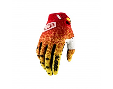 100% RIDEFIT Handschuhe red/yellow