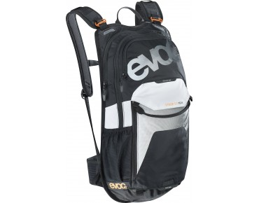 evoc STAGE 12L - zaino TEAM black/white/neon orange