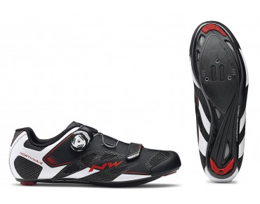 NORTHWAVE SONIC 2 PLUS - scarpe bici da strada black/white/red