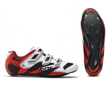 NORTHWAVE SONIC 2 Rennradschuhe white/black/red