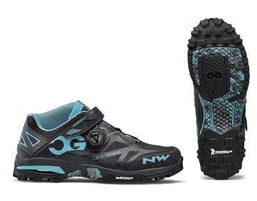 NORTHWAVE ENDURO MID MTB/trekking shoes black/aqua