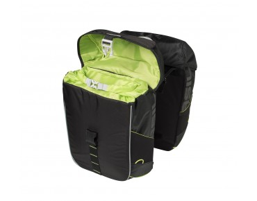 BASIL MILES DOUBLE BAG panniers (waterproof) black lime