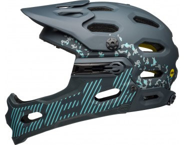 BELL SUPER 3R MIPS All Mountain Fahrradhelm matte gloss/lead stone