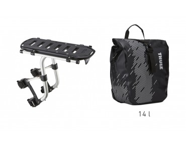Thule set offer Pack 'n Pedal Tour Rack and Shield Pannier black