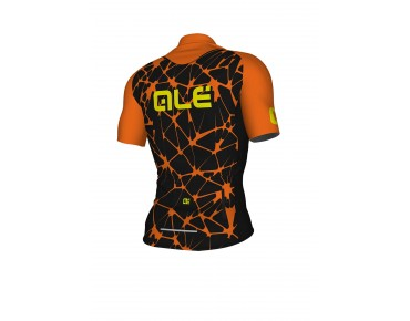 ALÉ SOLID Cracle Jersey black/fluo orange/fluo yellow