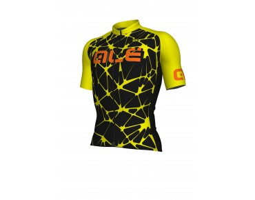 ALÉ SOLID Cracle Jersey black/fluo yellow/fluo orange