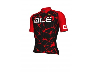 ALÉ SOLID Cracle Jersey black/red/white