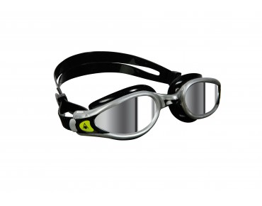 Aqua Sphere Kaiman Exo swimming goggles black-silver/mirrored lens