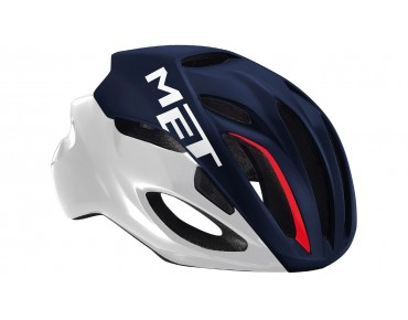 MET RIVALE HES road helmet midnight blue/white/red