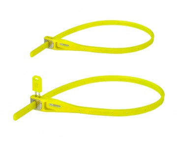 Hiplok Z-Lok steel core cable tie lock 2-pack lime