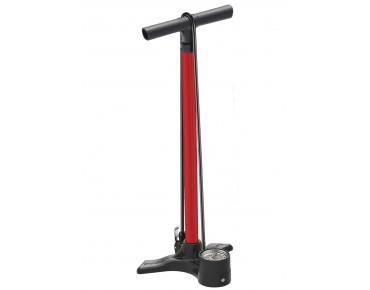 Lezyne Macro Floor Drive DV bicycle floor pump 15 bars red
