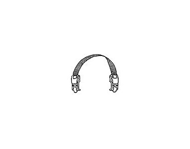 ORTLIEB Quick-Lock1-hooks with grip black