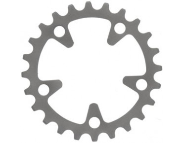 TA Zephyr 8-/9-/10-speed 24-tooth chainring silver