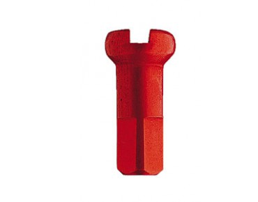 DT Swiss aluminium spoke nipples red