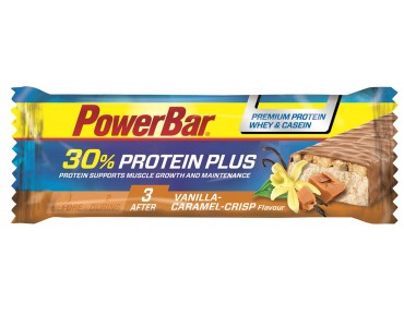 PowerBar Protein Plus 30% bar – RICH IN HIGH-QUALITY PROTEIN caramel-vanilla-crisp