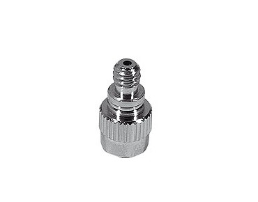 Adapter nipple with one-way valve from Schrader to Dunlop valve
