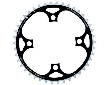 TA Chinook 9-speed chainring 42 teeth black/silver