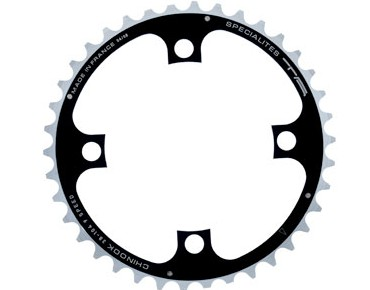 TA Chinook 9-speed chainring 38 teeth black/silver