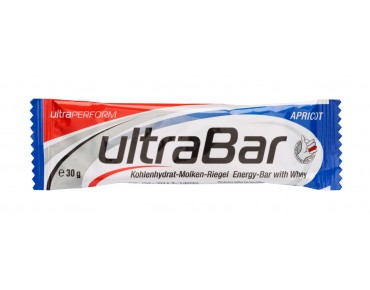 ultraSPORTS ultraBAR carbohydrate whey protein bar apricote