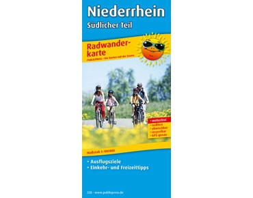Publicpress Bike tour map Niederrhein – southern part