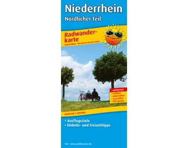 Publicpress Bike tour map Niederrhein – northern part