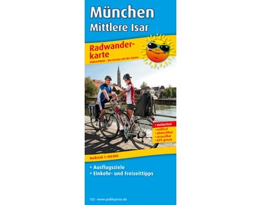Publicpress bike tour map Munich - Middle Isar