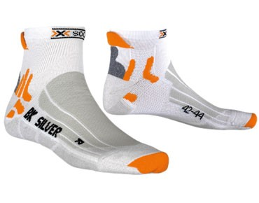 X SOCKS BIKING SILVER socks white/grey melange