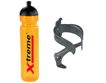 Xtreme 1L Trinkflasche + Protector Cage 2 gelb
