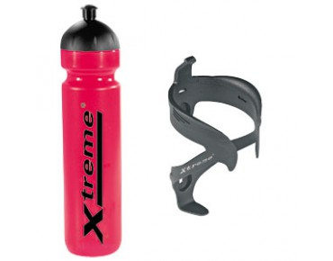 Xtreme 1L Trinkflasche + Protector Cage 2 rot