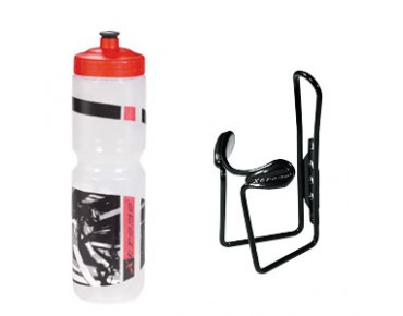keine Marke Xtreme 1L Trinkflasche + Xtreme Protector Cage transparent