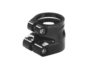 Xtreme WCR Double Clamp seat tube clamp black