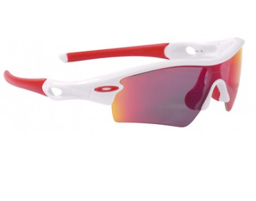 OAKLEY Sportbrille RADAR PATH polished white/+ red polarized