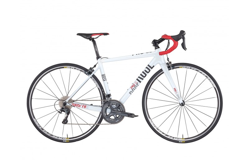 ROSE PRO SL-300 LADY BIKE NOW! shiny-white/grey-red