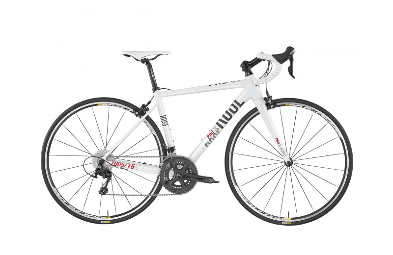 ROSE PRO SL-200 LADIES BIKE NOW! shiny white/grey-red
