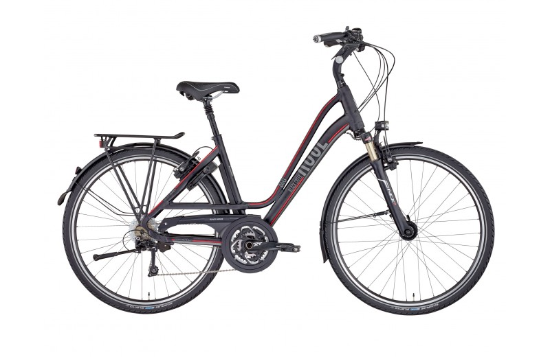 ROSE BLACK CREEK-4 TREKKING LADIES COMFORT BIKE NOW! anodized black