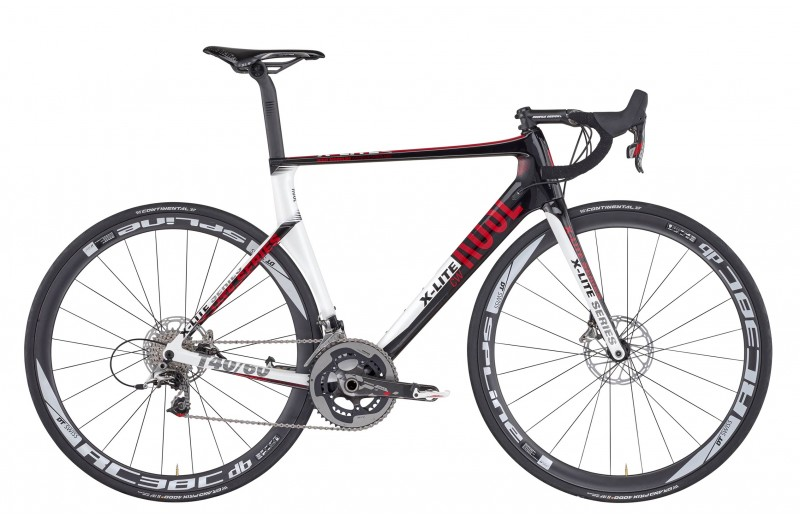 ROSE X-LITE CWX-8800 DISC shiny-UD-carbon/white-red