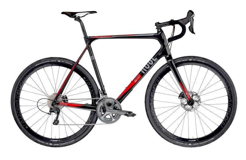 ROSE XEON CDX CROSS-3000 GRAVEL shiny-UD-carbon/red-grey