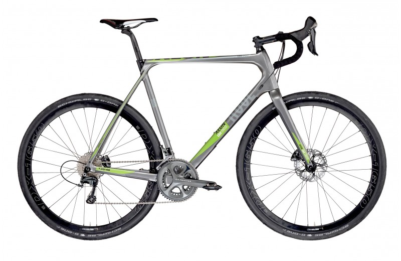ROSE XEON CDX CROSS-3000 GRAVEL shiny-grey/green-white